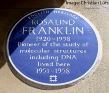 Rosalind Franklin blue plaque